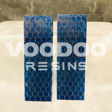 Blue Stained Glass Caged Scales